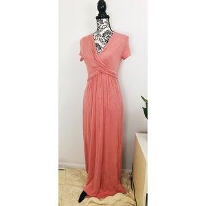 Women's Pink Blush Maternity Maxi Dress Sz. Large